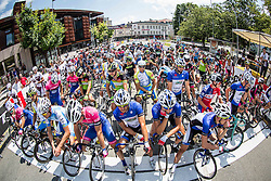 Riders at start before cycling race 48th Grand Prix of Kranj 2016 / Memorial of Filip Majcen, on July 31, 2016 in Kranj centre, Slovenia. Photo by Vid Ponikvar / Sportida