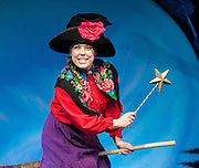 ROOM ON THE BROOM <br /> by JULIA DONALDSON and AXEL SCHEFFLER at the <br /> LYRIC THEATRE, SHAFTESBURY AVENUE, London, great Britain <br /> Press Photocall<br /> 27th November 2014 <br /> <br /> YVETTE CLUTTERBUCK as the Witch<br /> <br /> Photograph by Elliott Franks <br /> Image licensed to Elliott Franks Photography Services