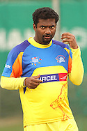 Muthiah Muralitharan of the Chennai Super Kings during the Superkings  training session held at St Georges Park in Port Elizabeth on the 17 September 2010..Photo by: Shaun Roy/SPORTZPICS/CLT20