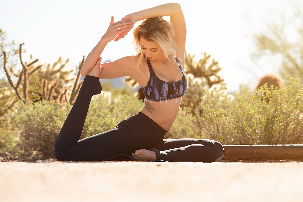 Scottsdale, AZ - Jan 30, 2017: Micaela yoga lifestyle photo shoot on Gateway trail head. (Photo by Jennifer Stewart)