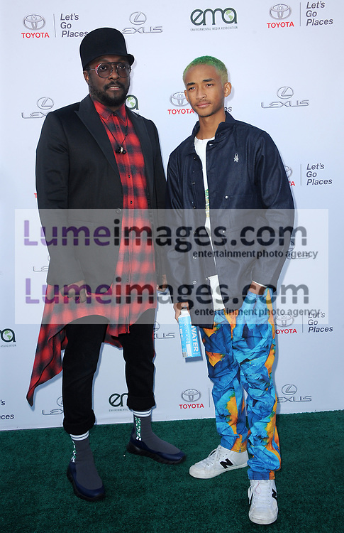 Will.i.am and Jaden Smith at the Environmental Media Association's 27th Annual EMA Awards held at the Barker Hangar in Santa Monica, USA on September 23, 2017.