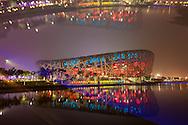 PEQUIM, CHINA,7/8/2008, 21h36 (horario local): ***EXCLUSIVO FOLHA*** OLIMPIADAS 2008: O Estadio Nacional de Pequim, conhecido como Ninho de Passaro, passa pelos ultimos testes antes da festa de abertura dos Jogos Olimpicos 2008. FOTO REAL, EFEITO OBTIDO DURANTE A EXPOSICAO FOTOGRAFICA  (foto: Caio Guatelli/Folha Imagem)PEQUIM, CHINA, 7/8/2008, 21h36: Olimpiadas 2008. jogos olimpicos de Pequim<br /> . (foto: Caio Guatelli)