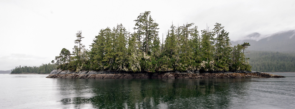 Clayoquot Sound, a UNESCO World Biosphere Reserve located near Tofino in the western coast of Vancouver Island, Bristish Columbia, Canada.
