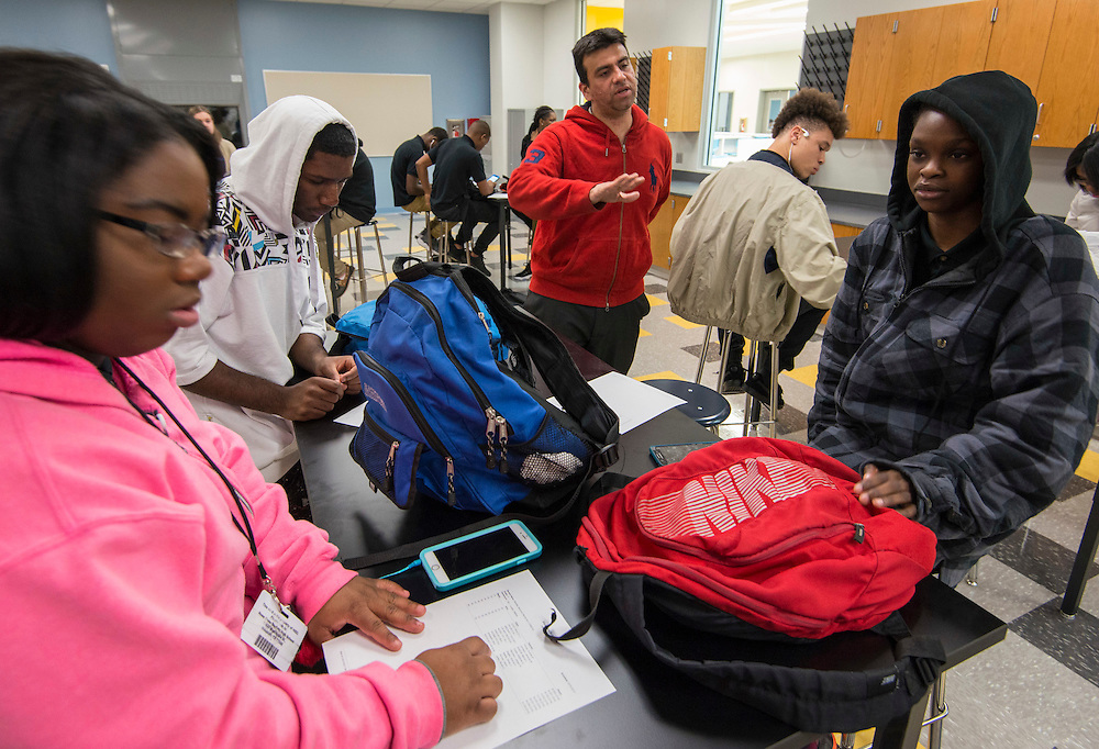 First day of class in new Sterling High School, January 4, 2017.