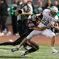 Los Gatos #9 Ryan Garwood brings down Palo Alto #22 Aiden Chang in a SCVAL Football Game at Los Gatos High School(Courtesy of Bill Gerth)r
