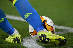 March 7, 2019 - Naples, Naples, Italy - UEFA Europa League Ball during the UEFA Europa League match between SSC Napoli and RB Salzburg at Stadio San Paolo Naples Italy on 7 March 2019. (Credit Image: © Franco Romano/NurPhoto via ZUMA Press)