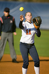 Virginia first baseman Lauren McCaskey (11).  The Virginia Cavaliers softball team fell to the Georgetown Hoyas 4-0 at the University of Virginia's The Park in Charlottesville, VA on March 20, 2008.