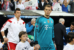 23.04.2014, Estadio Santiago Bernabeu, Madrid, ESP, UEFA CL, Real Madrid vs FC Bayern Muenchen, Halbfinale, Hinspiel, im Bild Manuel Neuer #1 (FC Bayern Muenchen) kommt aus dem Tunnel // during the UEFA Champions League Round of 4, 1st Leg Match between Real Madrid vs FC Bayern Munich at the Estadio Santiago Bernabeu in Madrid, Spain on 2014/04/23. EXPA Pictures © 2014, PhotoCredit: EXPA/ Eibner-Pressefoto/ Kolbert<br /> <br /> *****ATTENTION - OUT of GER*****