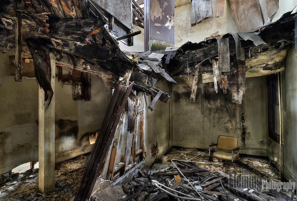 Destruction and desolation on Mare Island.