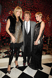 Left to right, ROD STEWART and his wife PENNY LANCASTER with his daughter KIMBERLEY STEWART at a party to celebrate the 10th Anniversary of Claridge's Bar, Claridge's Hotel, Brook Street, London on 11th November 2008.