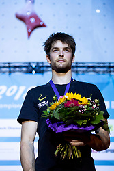 Third placed Jan Hojer of Germany during Award ceremony after combined Finals at the IFSC Climbing World Championships Innsbruck 2018, on September 16, 2018 in OlympiaWorld Innsbruck, Austria, Slovenia. Photo by Urban Urbanc / Sportida