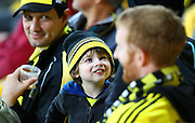 A young fan during the Round 22 A-League football match - Wellington Phoenix V Adelaide United at Westpac Stadium, Wellington. Saturday 5th March 2016. Copyright Photo.: Grant Down / www.photosport.nz