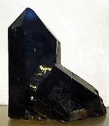 Smoky quartz' intergrown twinned crystals, Switzerland.