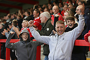 Accrington fans celebrate the win during the EFL Sky Bet League 2 match between Accrington Stanley and Mansfield Town at the Fraser Eagle Stadium, Accrington, England on 19 August 2017. Photo by John Potts.