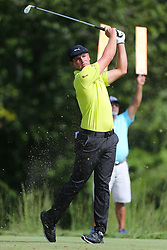 September 2, 2018 - Norton, Massachusetts, United States - Bryson DeChambeau tees off the 17th hole during the third round of the Dell Technologies Championship. (Credit Image: © Debby Wong/ZUMA Wire)