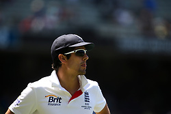 © Licensed to London News Pictures. 29/12/2013. A disappointed England captain Alastair Cook during Day 4 of the Ashes Boxing Day Test Match between Australia Vs England at the MCG on 29 December, 2013 in Melbourne, Australia. Photo credit : Asanka Brendon Ratnayake/LNP