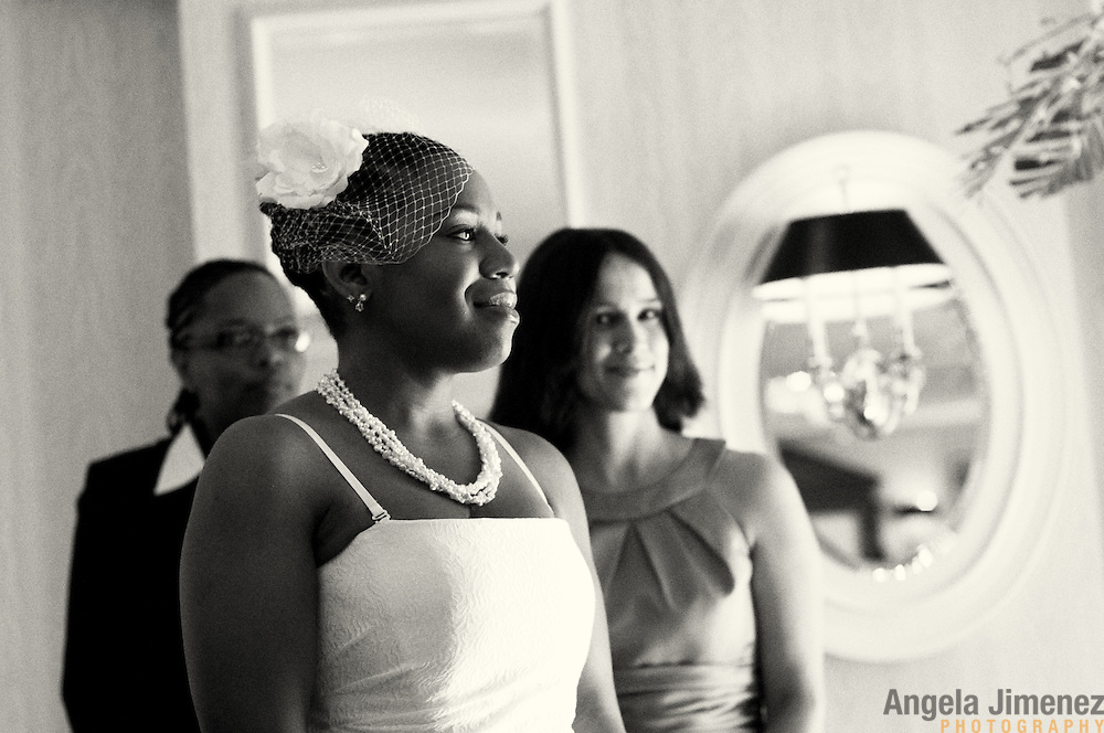 Emma and Chanda Brown's wedding is photographed on July 2, 2011. The wedding took place at the Willard-Continental Hotel in Washington, D.C. ..Photo by Angela Jimenez .www.angelajimenezphotography.com