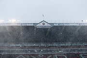 Bramall Lane during a blizzard during the EFL Sky Bet Championship match between Sheffield United and Nottingham Forest at Bramall Lane, Sheffield, England on 17 March 2018. Picture by Mick Haynes.