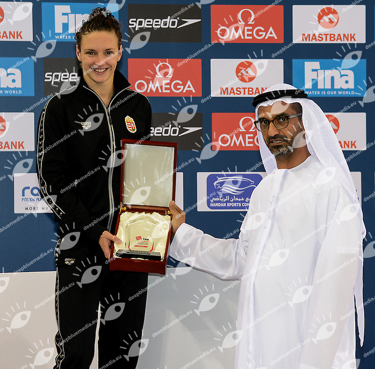 Katinka Hosszu Hungary<br /> FINA Mastbank Swimming World Cup 2014<br /> Dubai, UAE  2014  Aug.31 th - Sept.1st<br /> Day2 - Sept.1  finals<br /> Photo G. Scala/Deepbluemedia