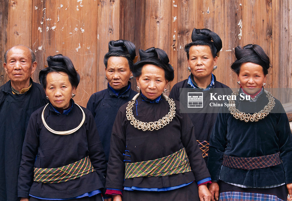 Short-skirt Miao people in traditional costume, Leishan, Kaili, Guizhou, China..C008155k