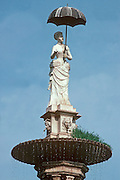 SPAIN, CATALONIA, BARCELONA 'Lady with the Umbrella' famous statue in the Municipal Park and a symbol of the city