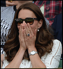 JUL 02 2014 Duke and Duchess of Cambridge at Wimbeldon