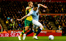 Darragh Lenihan of Blackburn Rovers Teemu Pukki of Norwich City battles for possession - Mandatory by-line: Phil Chaplin/JMP - 27/04/2019 - FOOTBALL - Carrow Road - Norwich, England - Norwich City v Blackburn Rovers - Sky Bet Championship