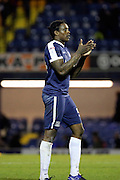 Southend United striker Nile Ranger (50) celebrates the win during the EFL Sky Bet League 1 match between Southend United and Bradford City at Roots Hall, Southend, England on 19 November 2016. Photo by Matthew Redman.