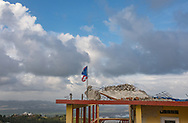March 22, 2018, Yabucoa, Puerto Rico, USA: A house on the hill at Yabucoa 6 months after Hurricane Maria.  Hurricane Maria made landfall in Yabucoa on September 20, 2017.