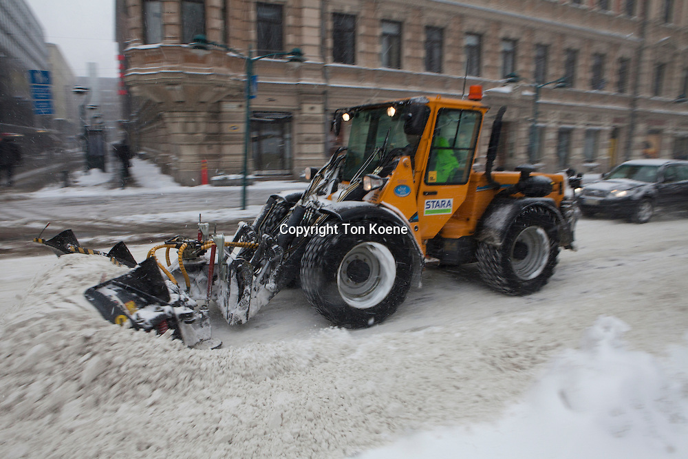 snow clearing in Helsinki