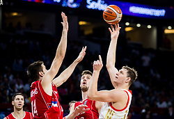 Stefan Bircevic of Serbia vs Timofey Mozgov of Russia during basketball match between National Teams of Russia and Serbia at Day 16 in Semifinal of the FIBA EuroBasket 2017 at Sinan Erdem Dome in Istanbul, Turkey on September 15, 2017. Photo by Vid Ponikvar / Sportida