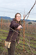 Morgan Hall, assistant wine grower and wine maker.<br />