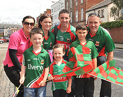 Some of the Coghill's and Hopkins familly from Breaffy on their way to Croker.<br /> Pic Conor McKeown