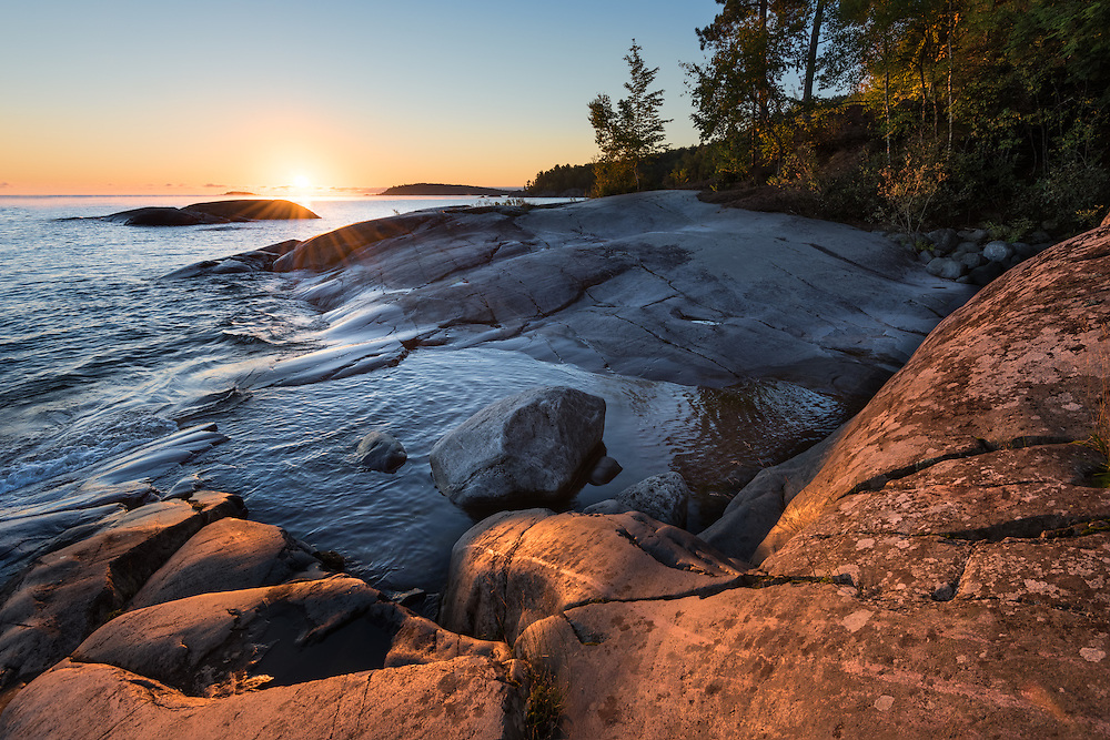 Lake Superior's morning splendor from Marquette County, Michigan's Upper Peninsula