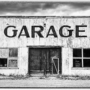 An old garage in Freedom, Wyoming.