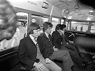 The Rolling Stones Charlie is my Darling - Ireland 1965 -..The Rolling Stones in the airport bus on route to the customs hall at Dublin Airport before thier concert at the Adelphi Theatre during their second  Irish tour of 1965. L-R Charlie Watts (drums), Mick Jagger (vocals), Keith Richards (guitar) and  Bill Wyman (bass). This was the band's second Irish tour of 1965....07/01/1965.01/07/1965.07 January 1965...        The Rolling Stones Charlie is my Darling - Ireland 1965.Out November 2nd from ABKCO.Super Deluxe Box Set/Blu-ray and DVD Details Revealed. .ABKCO Films is proud to join in the celebration of the Rolling Stones 50th Anniversary by announcing exclusive details of the release of the legendary, but never before officially released film, The Rolling Stones Charlie is my Darling - Ireland 1965.  The film marked the cinematic debut of the band, and will be released in Super Deluxe Box Set, Blu-ray and DVD configurations on November 2nd (5th in UK & 6th in North America).. .The Rolling Stones Charlie is my Darling - Ireland 1965 was shot on a quick weekend tour of Ireland just weeks after ?(I Can't Get No) Satisfaction? hit # 1 on the charts and became the international anthem for an entire generation.  Charlie is my Darling is an intimate, behind-the-scenes diary of life on the road with the young Rolling Stones featuring the first professionally filmed concert performances of the band's long and storied touring career, documenting the early frenzy of their fans and the riots their live performances incited.. .Charlie is my Darling showcases dramatic concert footage - including electrifying performances of ?The Last Time,? ?Time Is On My Side? and the first ever concert performance of the Stones counterculture classic, ?(I Can't Get No) Satisfaction.?  Candid, off-the-cuff interviews are juxtaposed with revealing, comical scenes of the band goofing around with each other. It's also an insider's glimpse into the band's developing musical style by blending blu
