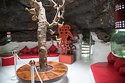Room in volcanic lava bubble Fundación César Manrique, Taro de Tahíche, Lanzarote, Canary islands, Spain