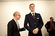 STEPHEN FRIEDMAN; PRINCE WILLIAM WAXWORK, 'Engagement' exhibition of work by Jennifer Rubell. Stephen Friedman Gallery. London. 7 February 2011. -DO NOT ARCHIVE-© Copyright Photograph by Dafydd Jones. 248 Clapham Rd. London SW9 0PZ. Tel 0207 820 0771. www.dafjones.com.