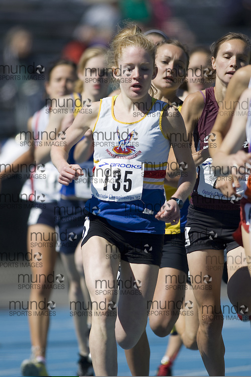 Harrison, Kate competing in the Junior Girls 1500m at the 2007 OTFA Junior-Senior Championships in Ottawa.