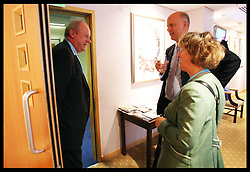 Chris Grayling and Damian Green in the Green room after their speeches  at the Conservative Party Conference in Birmingham, Tuesday, 9th October 2012. Photo by: Stephen Lock / i-Images