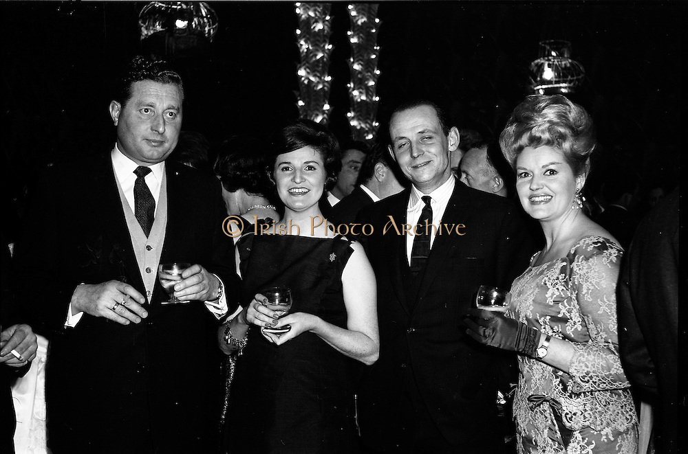 18/04/1962<br /> 04/18/1962<br /> 18 April 1962 <br /> Betty Whelan and Associates Reception at the Gresham Hotel, Dublin. At the event were (l-r): Mr E. Browne; Mrs J. Duggan; Mr J. Duggan and Miss Betty Whelan (Mrs Browne).