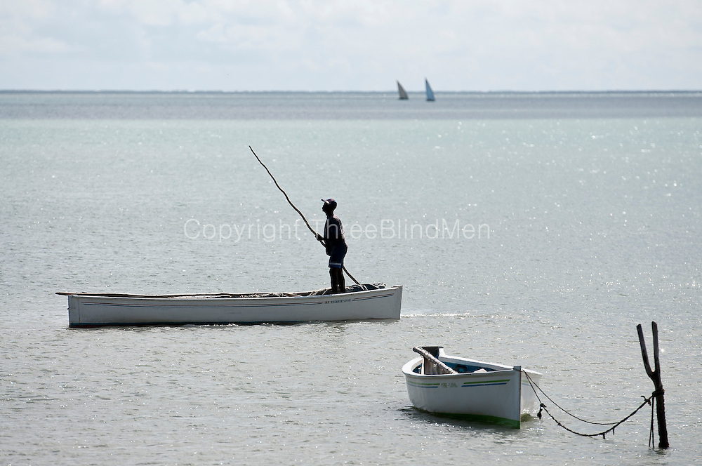 Fishermen return to the island of Rodrigues in their sailing boats or pirogues.
