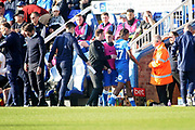 Peterborough Utd forward Ivan Toney (17) disappears down the tunnel after being sent off during the EFL Sky Bet League 1 match between Peterborough United and Shrewsbury Town at London Road, Peterborough, England on 23 February 2019.
