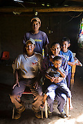 Rancher José Angel Galaviz Carrillo with his family at his home on their ranch in the Sierra Mountains near Maycoba, in the Mexican state of Sonora.  (José Angel Galaviz Carrillo is featured in the book What I Eat: Around the World in 80 Diets.)