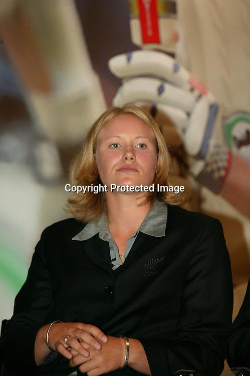 31 March 2004, New Zealand Cricket Awards, Crown Plaza, Auckland, New Zealand.<br />Aimee Mason<br />Please Credit: Sandra Teddy/Photosport