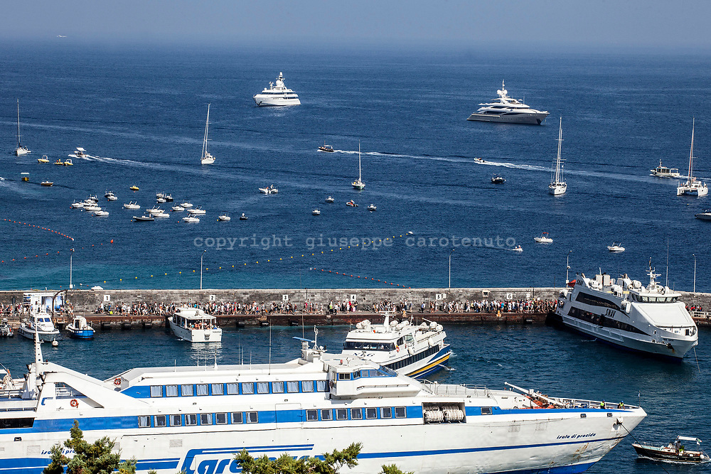 "04 August 2017, Capri Italy - A view of the port of ""Marina Grande""."