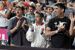 09.09.2014, City Arena, Barcelona, ESP, FIBA WM, Slowenien vs USA, im Bild Spanish film director Juan Antonio Bayona // during FIBA Basketball World Cup Spain 2014 match between Slovenia and USA at the City Arena in Barcelona, Spain on 2014/09/09. EXPA Pictures © 2014, PhotoCredit: EXPA/ Alterphotos/ Acero<br /> <br /> *****ATTENTION - OUT of ESP, SUI*****