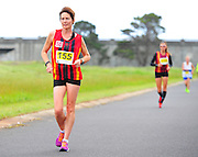 CAPE TOWN, SOUTH AFRICA - OCTOBER 10: Lesley van Buuren of CGA in the Masters women 10km during the South African Race Walking Championship at Youngsfield Military Base on October 10, 2015 in Cape Town, South Africa. (Photo by Roger Sedres/ImageSA)