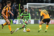 Forest Green Rovers Reece Brown(10) runs forward towards Cambridge United's Adam Phillpis(17) during the EFL Sky Bet League 2 match between Forest Green Rovers and Cambridge United at the New Lawn, Forest Green, United Kingdom on 20 January 2018. Photo by Shane Healey.