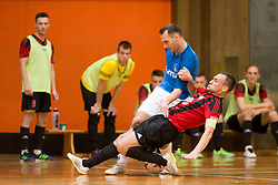 during futsal match between FC Litija and FC Dobovec Pivovarna Kozel in Final of 1.SFL 2017/18, on May 18, 2018 in Sports hall Litija, Litija, Slovenia. Photo by Urban Urbanc / Sportida
